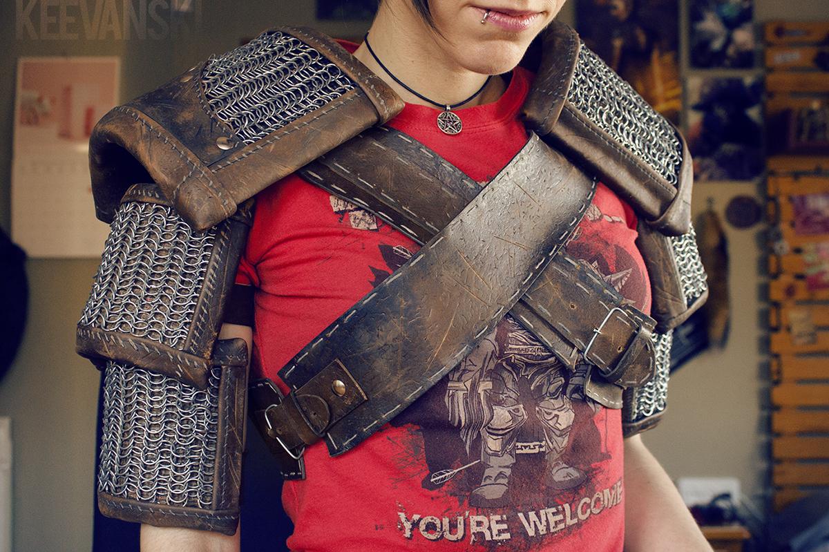 DIY Cosplay The Witcher 3 Pauldrons DIY Cosplay Armor Geralt Keevanski