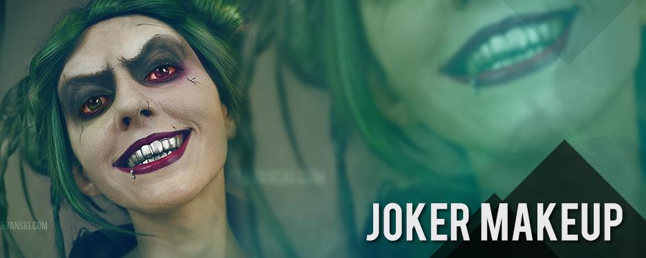 Female Joker Makeup Jared Leto Inspired Suicide Squad Tutorial for Halloween