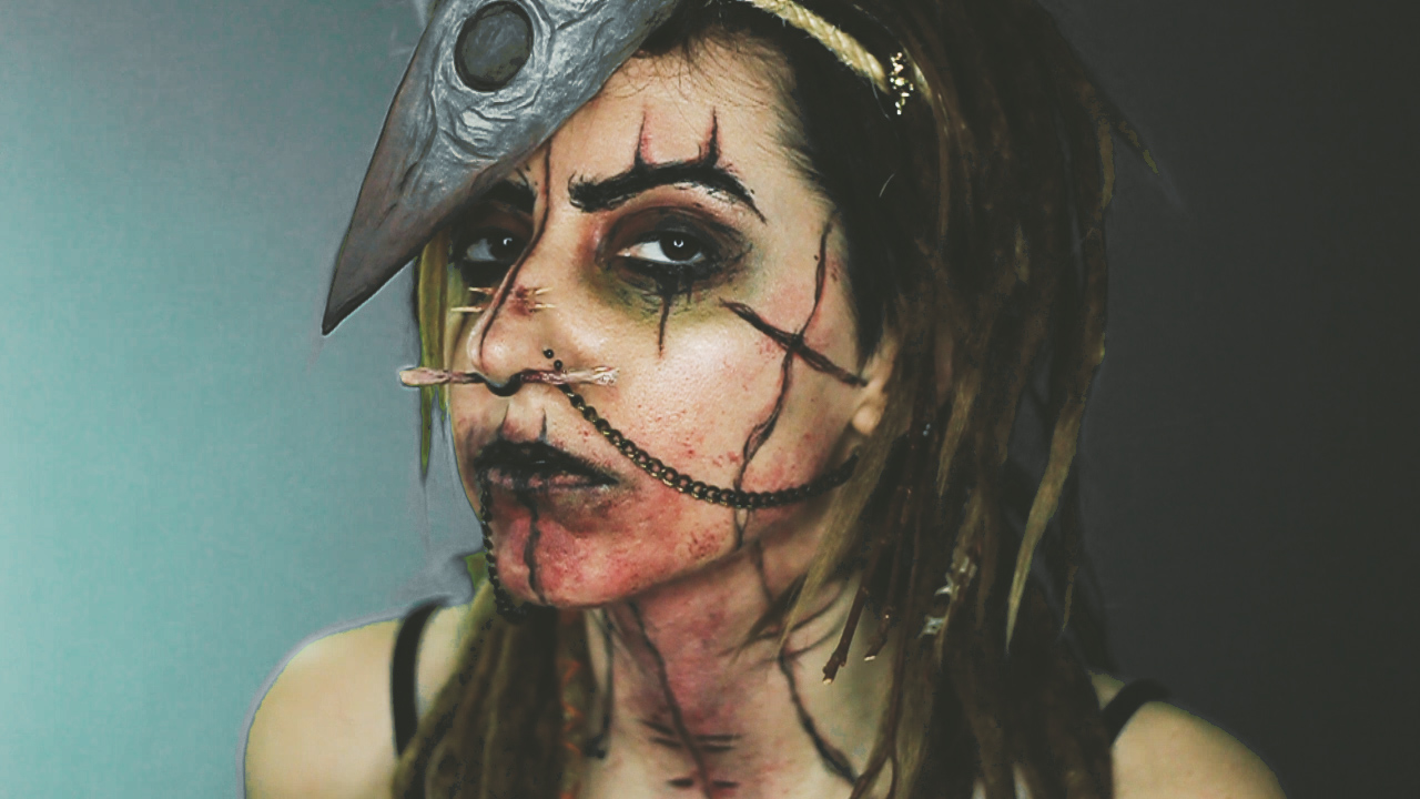 Maquillaje Halloween: Nigromante Caníbal