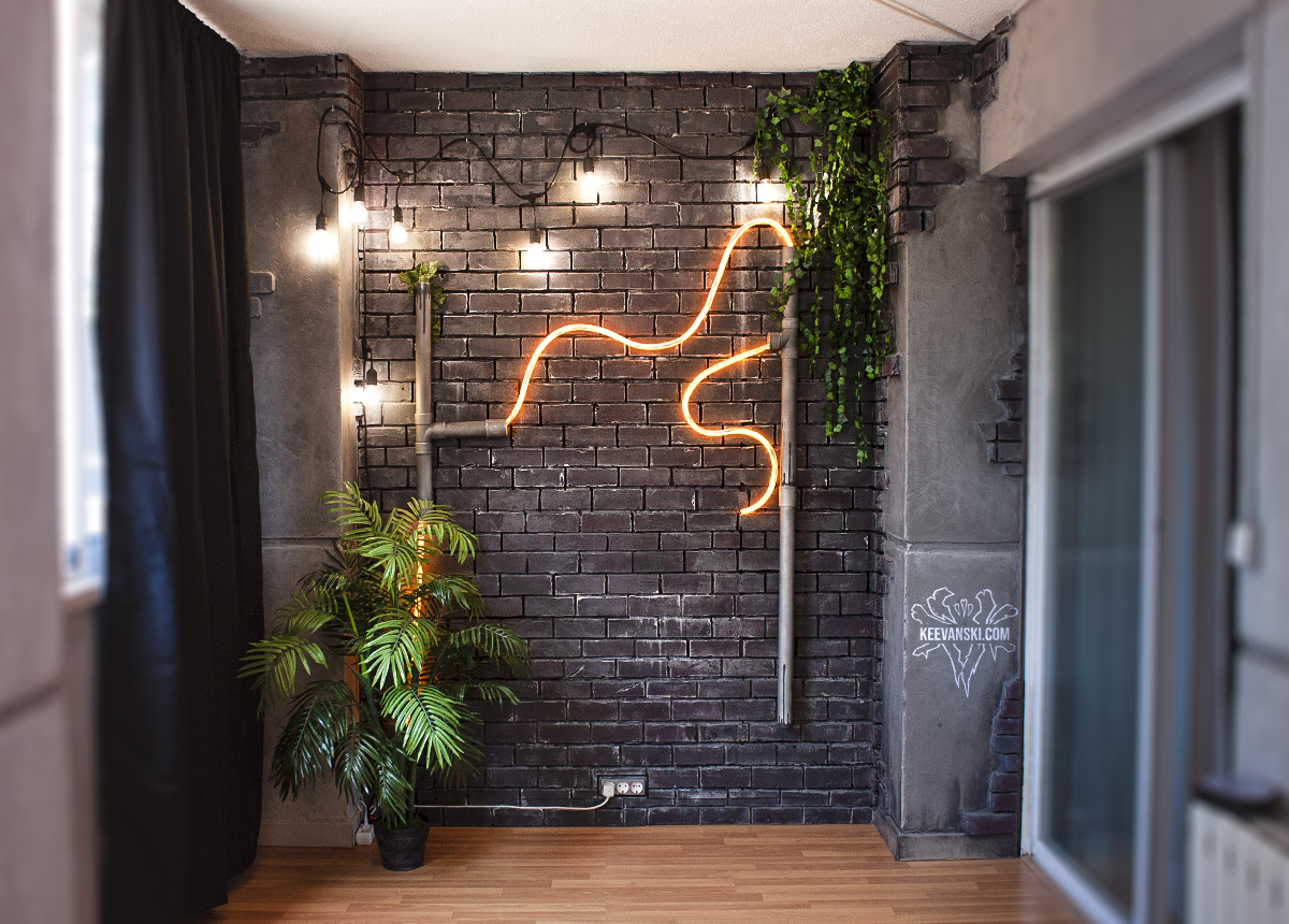 Pared Ladrillo Falso estilo Industrial | DIY