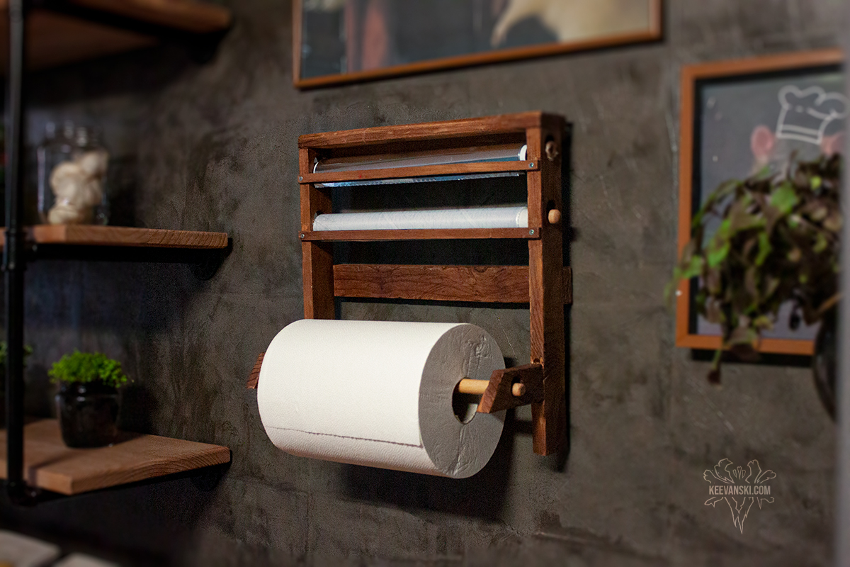Wooden Kitchen Roll Holder | DIY